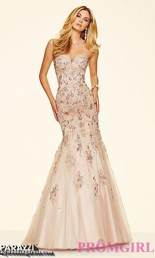 Beaded Sweetheart Mermaid Style Mori Lee Prom Dress Style ML-98060