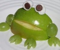 Frog--green apples, fun snack!