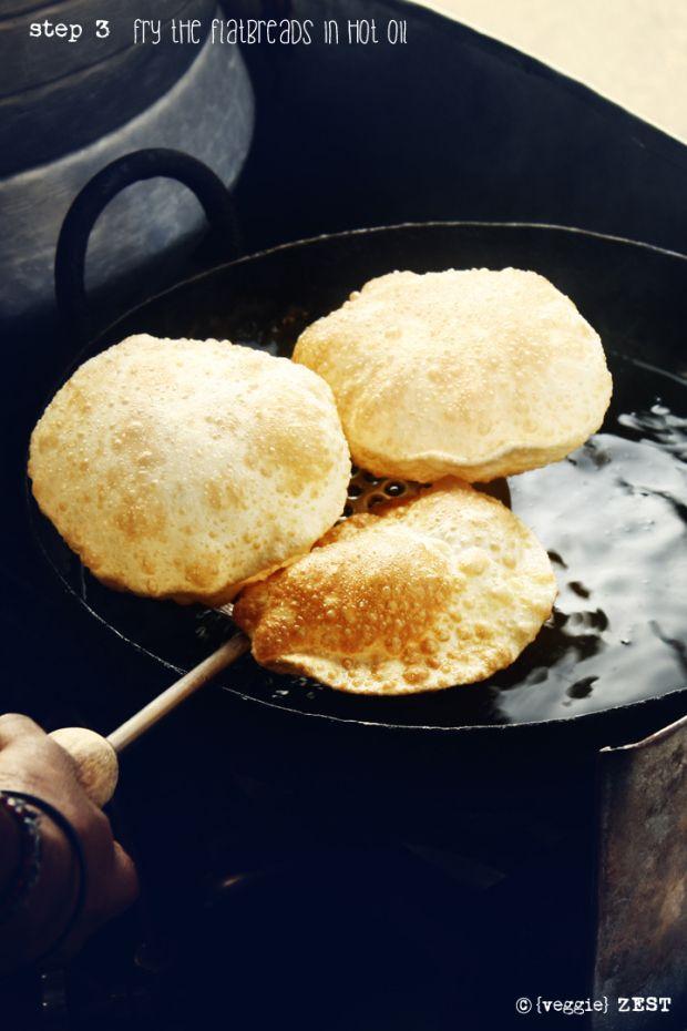 Poori Bhaji (vegan) - street food from India