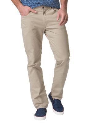 Chaps Hampton Khaki Big  Tall Stretch-Twill 5-Pocket Pant