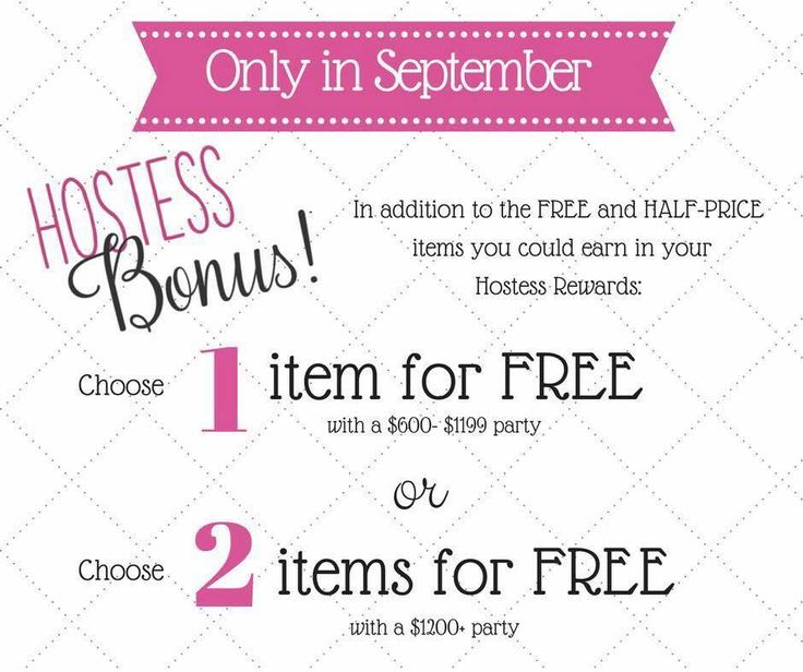 Say WHAT?! Host a Thirty-One party in September & receive 1 or 2 items for FREE (in addition to the already awesome Hostess rewards)!! www.AnchoredBagsBySarah.com