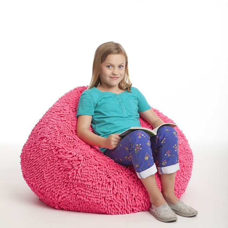This Pink Bean Bag Features An Ultra Plush Chenille Microfiber Cover That Is Extremely Soft To The Touch Filled With High Quality