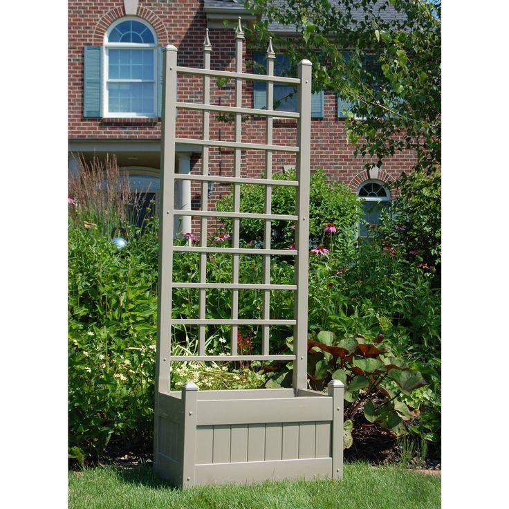trellis planter easy to build except nix the spikes more lattice pieces this