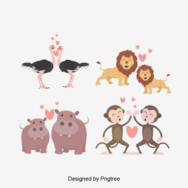 Valentines Day Animal Lovers Illustration Love Clipart Lovely Animal Png Transparent Clipart Image And Psd File For Free Download Lovers Illustration Animal Png Animal Lover