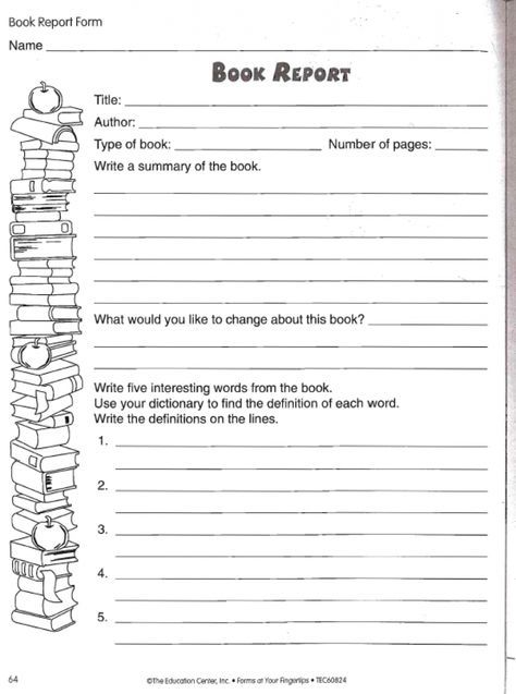 24 best book reports images on Pinterest Book report templates - book report template free