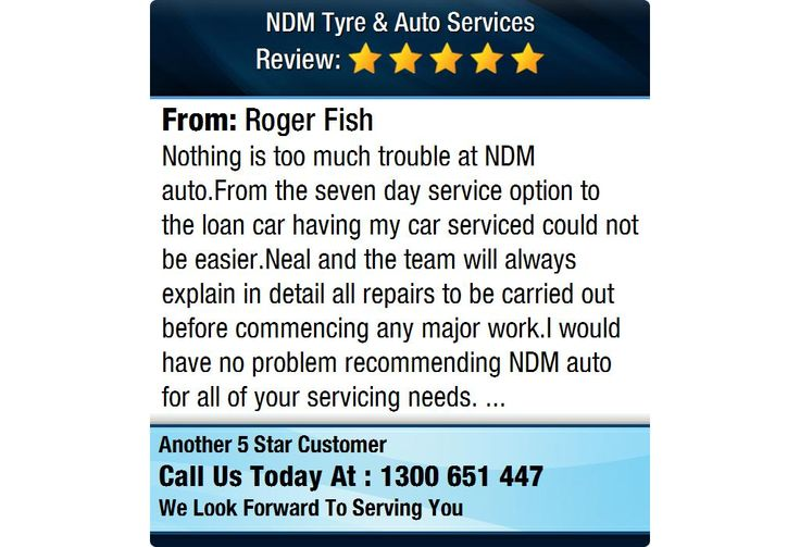 Nothing is too much trouble at NDM auto.From the seven day service option to the loan car...