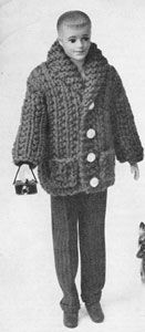 Car Coat | No. 784 | Doll Clothes Pattern | Free Knitting Patterns