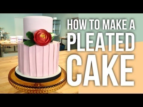 "Cake Artist Anna Ellison from Charm City Cakes West and one of the stars from television series ""Ace of Cakes"" shares a cute design for a pleated cake that can be done in minutes.   (Video is 3:20 min)    Shop Elite Rolled Fonda..."