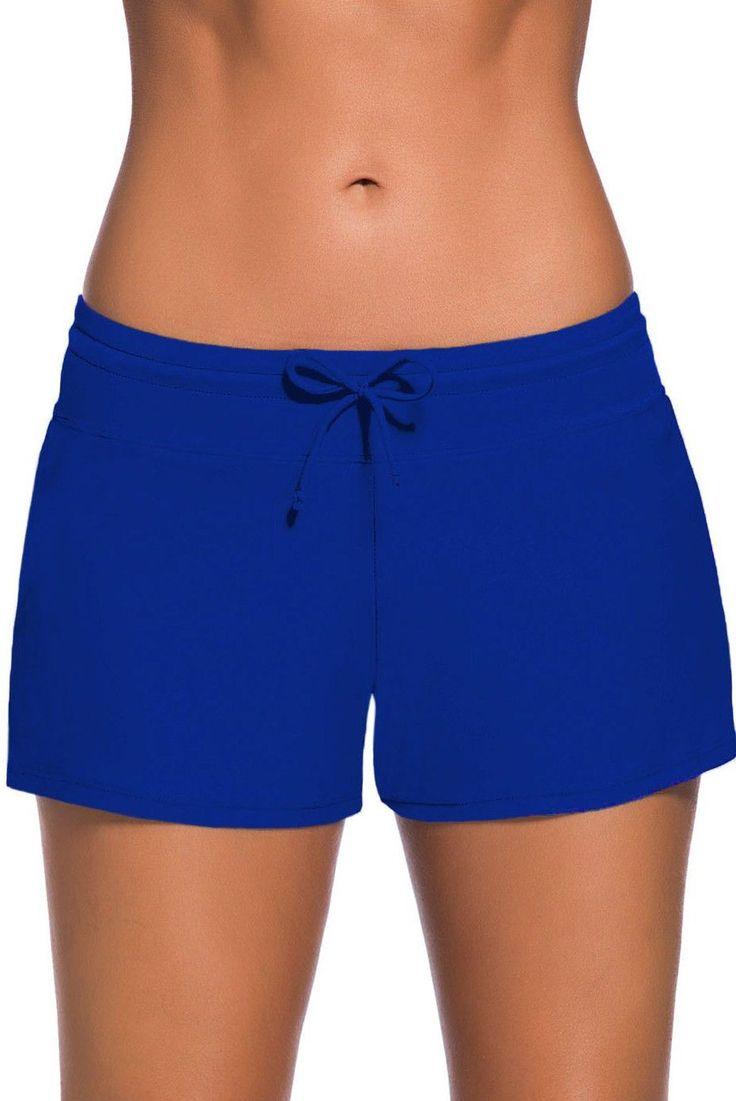 Women's Royal Blue Swim Boardshort https://www.modeshe.com #modeshe @modeshe #Blue