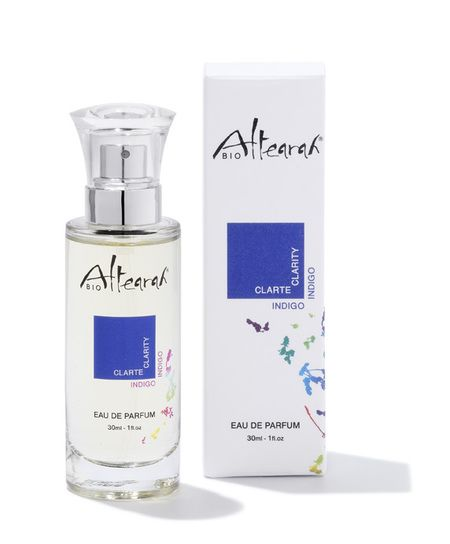 My new go to fragrance: Indigo ALTEARAH BIO Eaux de Parfum with Essential Oils. As promised...sensuality & well being for a colourful day. Bliss in a bottle!