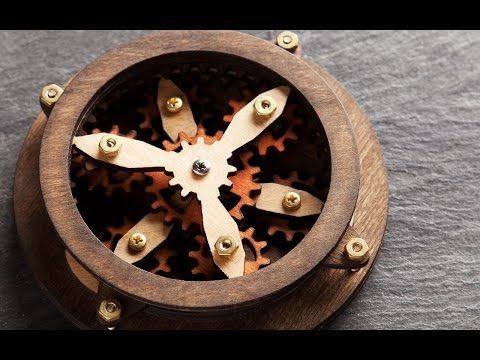 SteamyTech DIY kits - laser cut wood gears that spin when turned, starting at $20. Very cool!