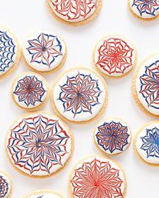 firework sugar cookies
