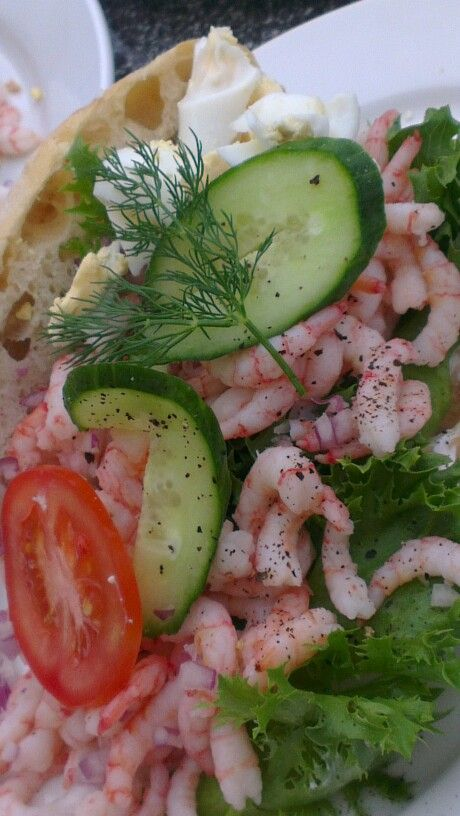 Prawn Sandwich  - Richter in Fjällbacka at the westcoast, Sweden