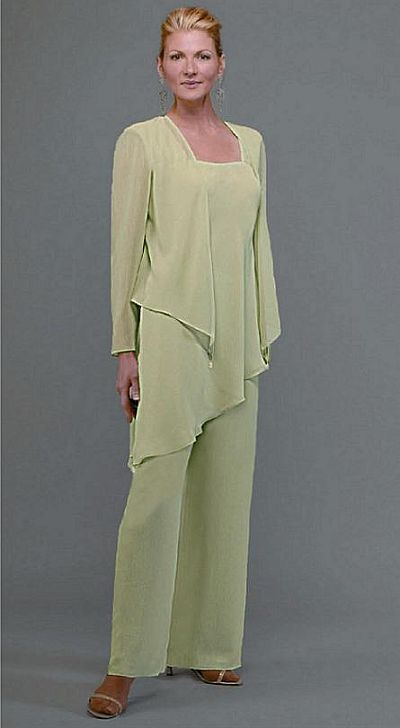 Ursula Plus Size Formal Chiffon Pant Suit 41882 at frenchnovelty.com