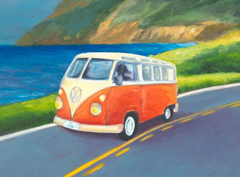 GICLEE on 8-1/2x11 Fine Art Paper Cruising the Trail