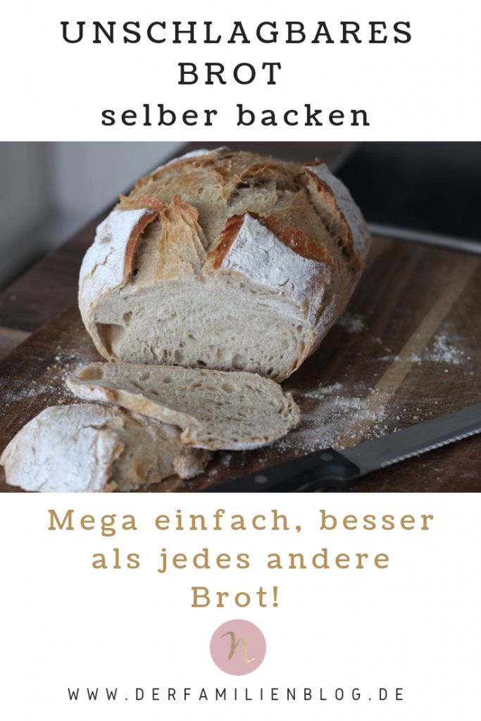 Das unschlagbare Brot! Super einfach – einfach lecker! – Nelefees – Die Fa …   – Recipes Brunch + Fingerfood