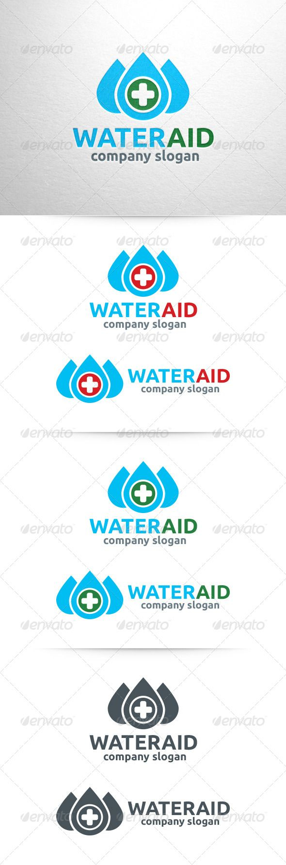 Water Aid Logo Template — Vector EPS #medicine #clean • Available here → https://graphicriver.net/item/water-aid-logo-template/6490372?ref=pxcr
