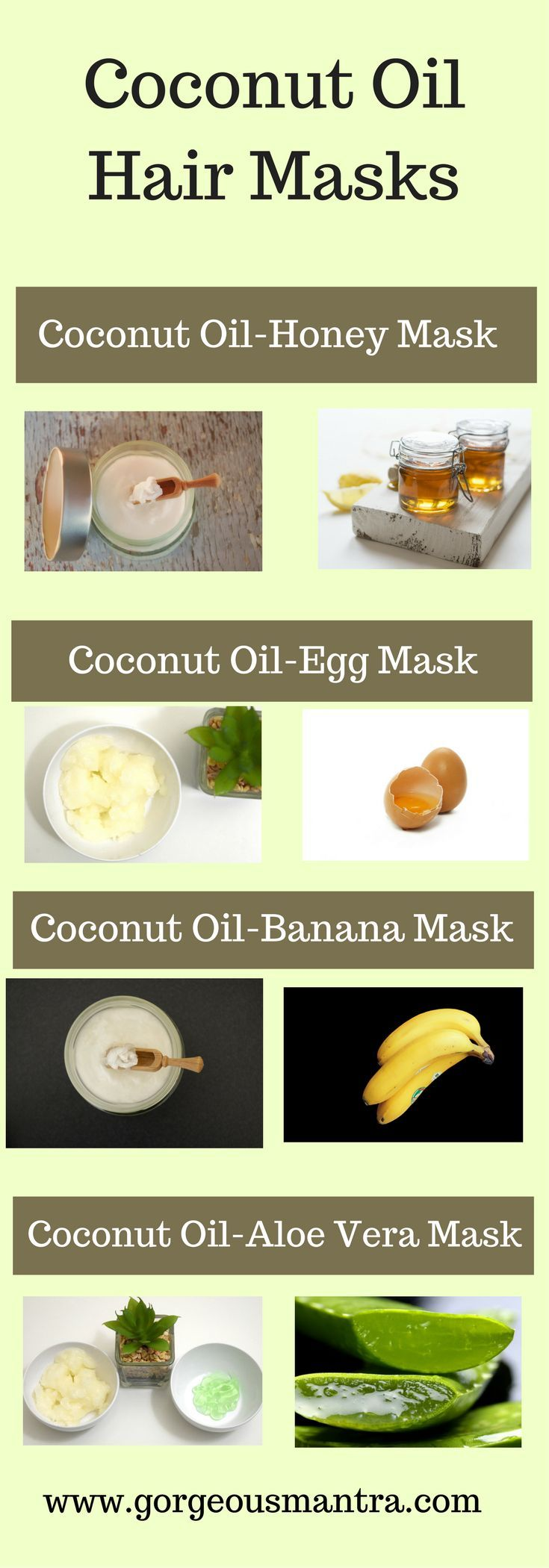 Try these coconut oil hair masks for healthy and beautiful hair. These masks are great for nourishing hair and promoting hair growth.