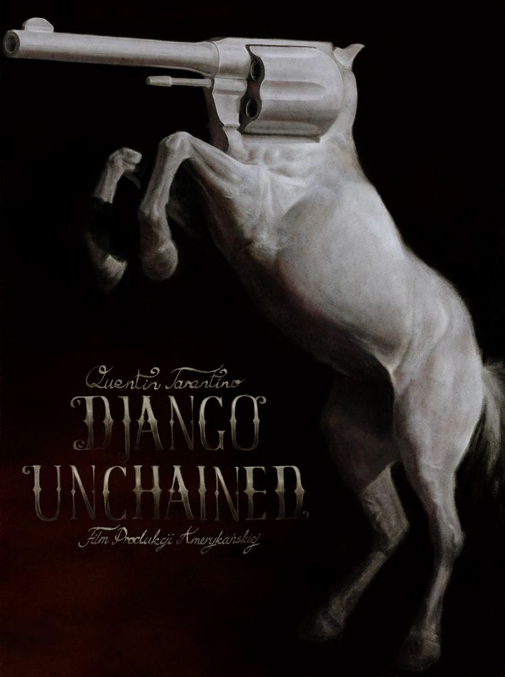 Django Unchained, movie poster, digital painting. on Behance