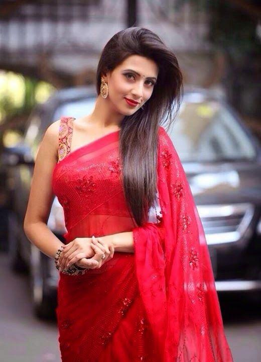 Bidya Sinha Saha Mim in Red Saree.