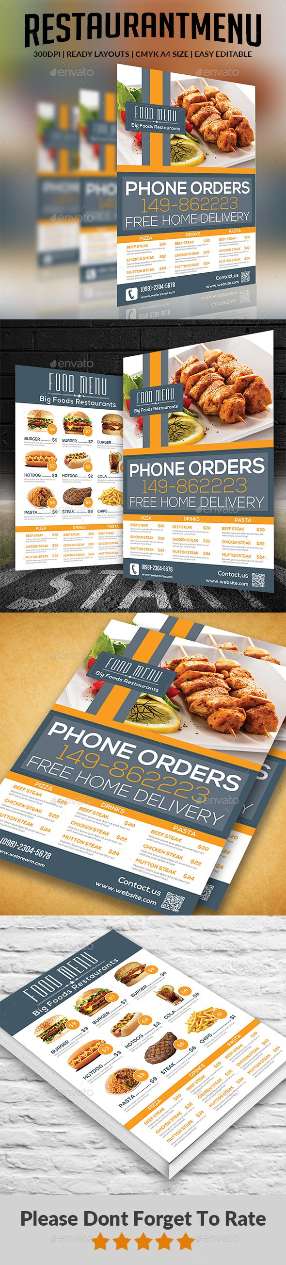 Best Food Menu  Print Templates  Psd Images On