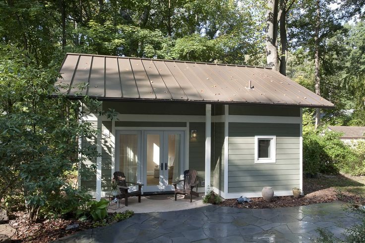 This little backyard cottage feels spacious despite a floor plan of just 340 sq ft plus a loft.