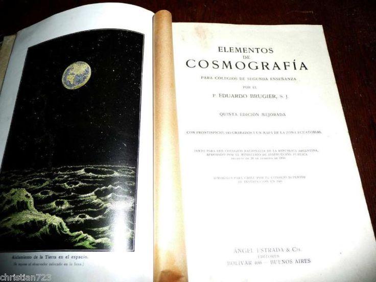 COSMOGRAFIA  BRUGIER ASTRONOMY NEBULA BEAUTIFUL  ENGRAVINGS FOLDOUT MAP  1920