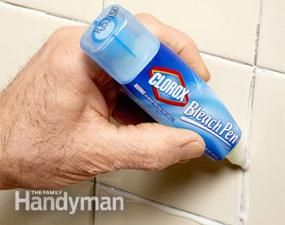 How To Clean A Bathroom Faster And Better Stains Mildew Stains And Bleach Pen