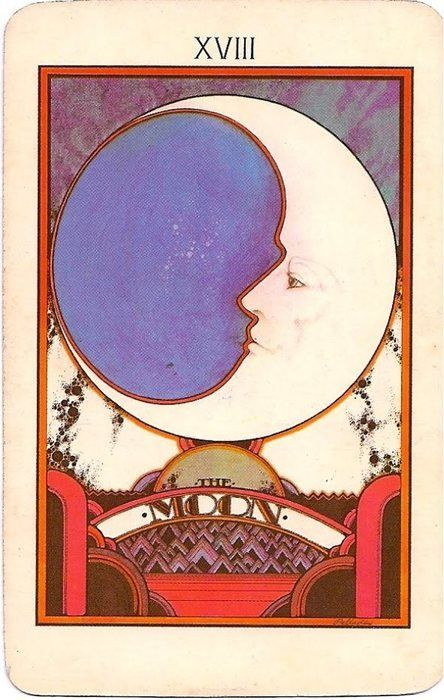 Upright: Illusion, fear, anxiety, insecurity, subconscious The Moon Reversed: Release of fear, unhappiness, confusion