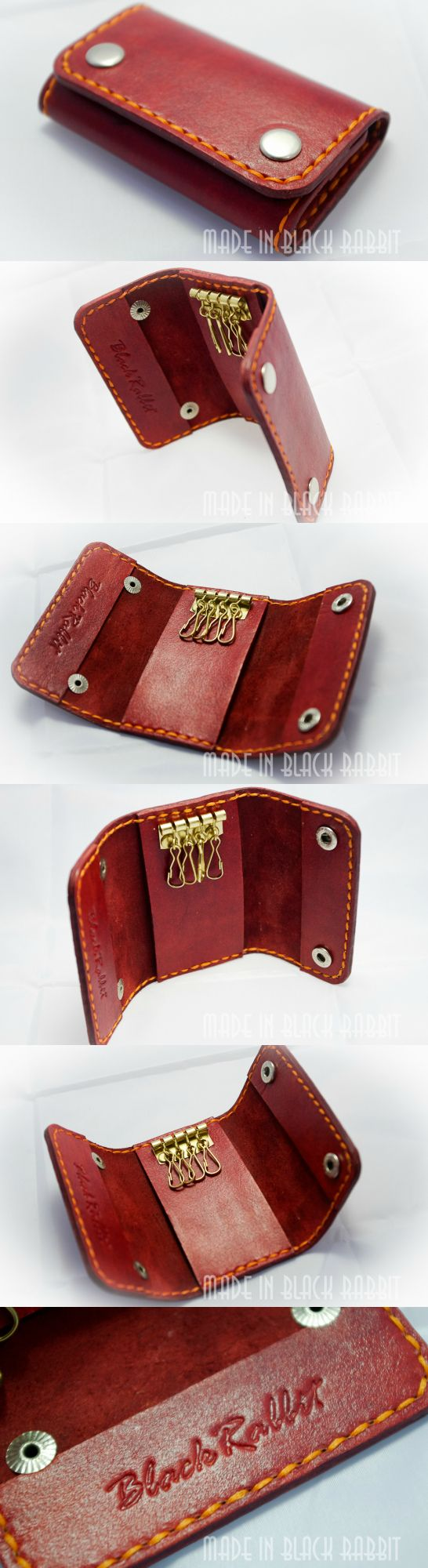 Housekeeper pocket for storing keys made of genuine leather. Leather vegetable tanned. The color can be any. Hand painting and sewing. On the two buttons. Very handy accessory, you can choose the color of the bag or gloves. A good and useful gift.