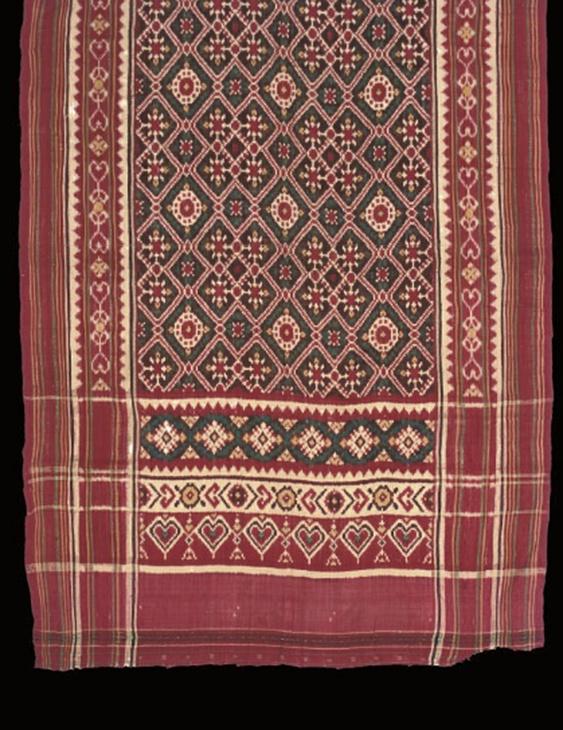 double ikat patola - Gujarat, India for Indonesian market, late 18th century