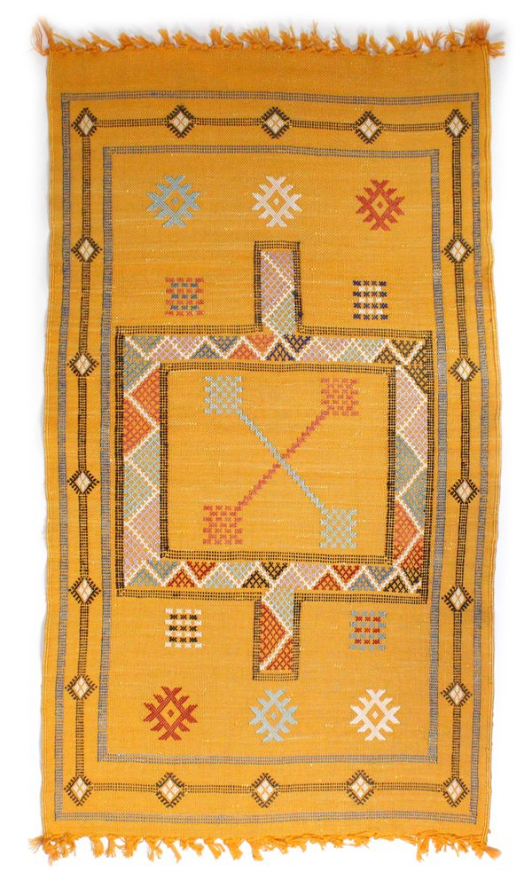 Yellow Kilim Carpet, www.babasouk.ca