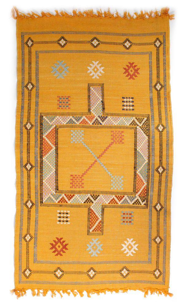 Yellow Kilim Carpet, www.babasouk.ca