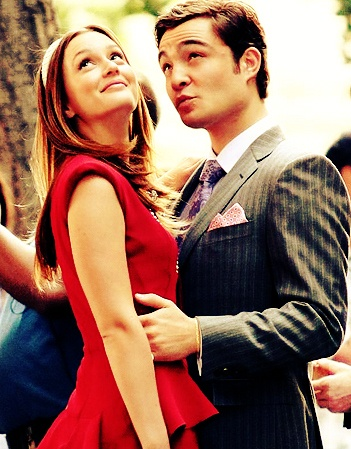 I don't always love tv couples, but if I do, they're in Gossip Girl. Love Leighton Meester and Ed Westwick as Blair Waldorf and Chuck Bass.