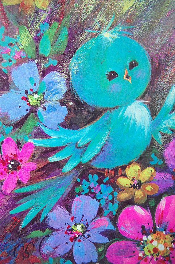 Vintage 70's Bluebird....Vylette hi sweeteepie <3