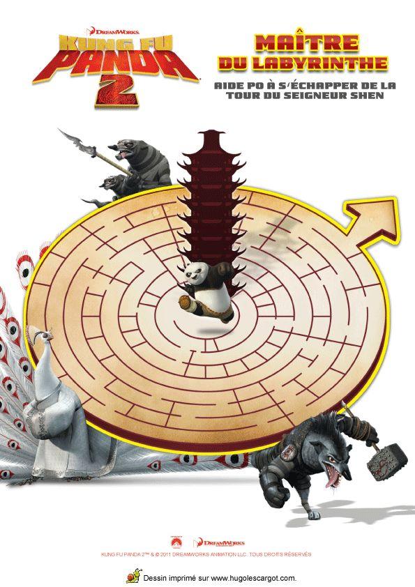 Devenez un maître de labyrinthe avec ce jeu Kung Fu Panda à imprimer.