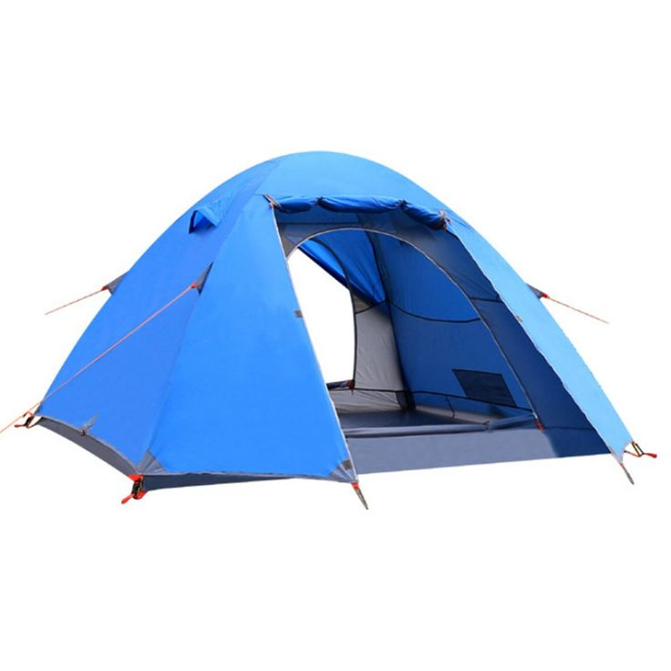 ANGIX Waterproof Backpacking Tent 2-3 Person Lightweight with Carry Bag, Double Layer 2 Doors. Two mesh doors and brace type windows for great ventilation and mosquito away. Close the outside layer, it can be used as storage room for shoes and backpack to keep the tent clean. Professional waterproof design, the bottom with seam taped to prevent the water from leaking in the tent when there is rainy day. 2 3 person tent,easy to install, two persons can install the tent quickly;with...