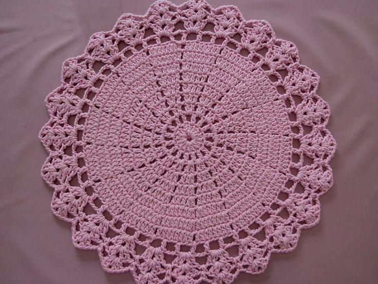 Sousplast de Crochê feito a mão ...jogo rosa bebê barbante de ótima qualidade 36 cm ... valor por unidade