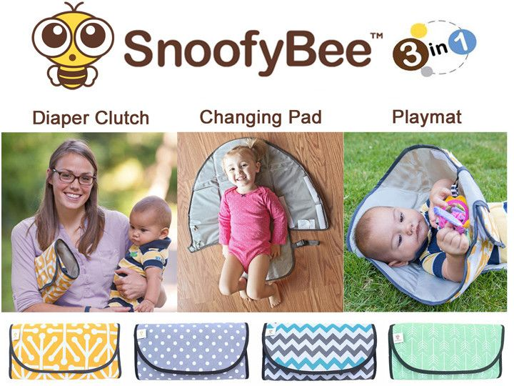 Cute little hands don't belong in dirty diapers! A changing pad with a patent-pending barrier that keeps your child's hands out of the mess? Yes, please!
