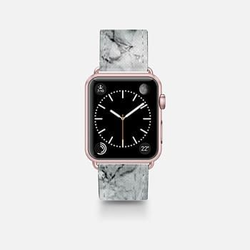 Leather Watch Band -  Marble
