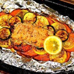 Salmon Leaf Recipe – Allrecipes.com – Gourmet Meal – #Allrecipescom #F …   – Foil Pack Recipes