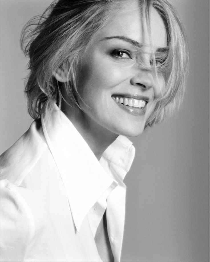 Sharon Stone  l  Portrait Photography  l  Smile  l  Black & White