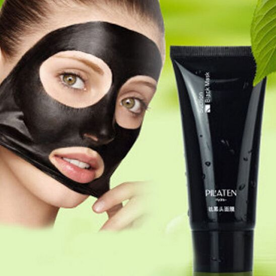 Pilaten removedor de cravo Limpeza Profunda da cabeça Preta removedor de Acne lama negra rosto estilo Tearing pele óleo 60g livre grátis