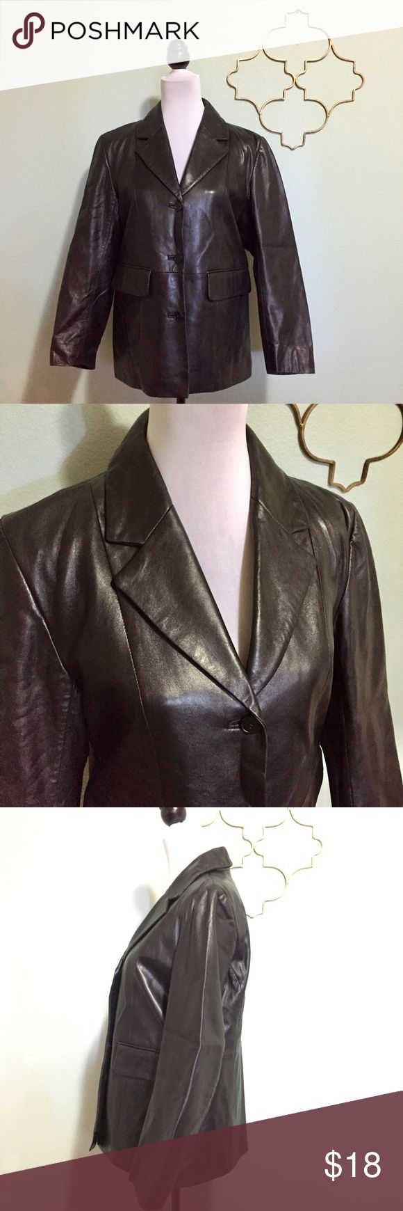100% Italian lambskin jacket size medium Gorgeously soft 100% Italian lambskin jacket in black.  Great Northwest brand. Petite Medium. Approximate Measurements: chest 38 inches, shoulder to hem 26 inches, sleeves 28 inches. Great Northwest Jackets & Coats