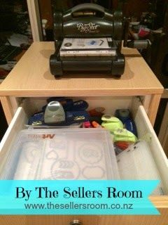 """""""Big Shot Cabinet"""" By The Sellers Room Check out this amazing Big Shot Cabinet that Margarette has just had made ... Perfect for all your craftin' needs, and made to measure too! Margarette is happy to give a quote, please email her via msellers@thesellersroom.co.nz"""