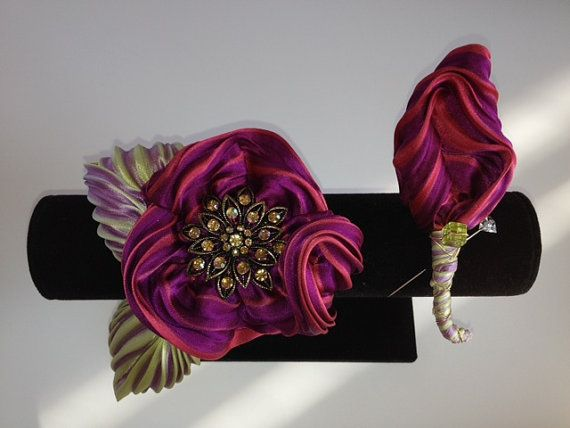 Prom time is closing in... Exquisite HandStitched Silk Shibori Flower by TheEnchantedPetal, $42.00