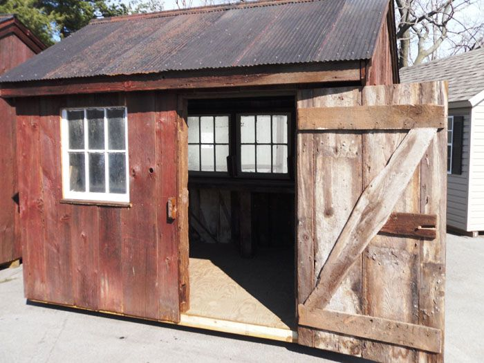garden sheds from recycled materials rustic barns and sheds