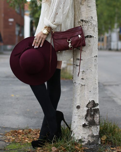Looove the burgundy Rebecca minkoff