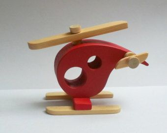 Artículos similares a wooden helicopter, (cut and sanded by hand) en Etsy