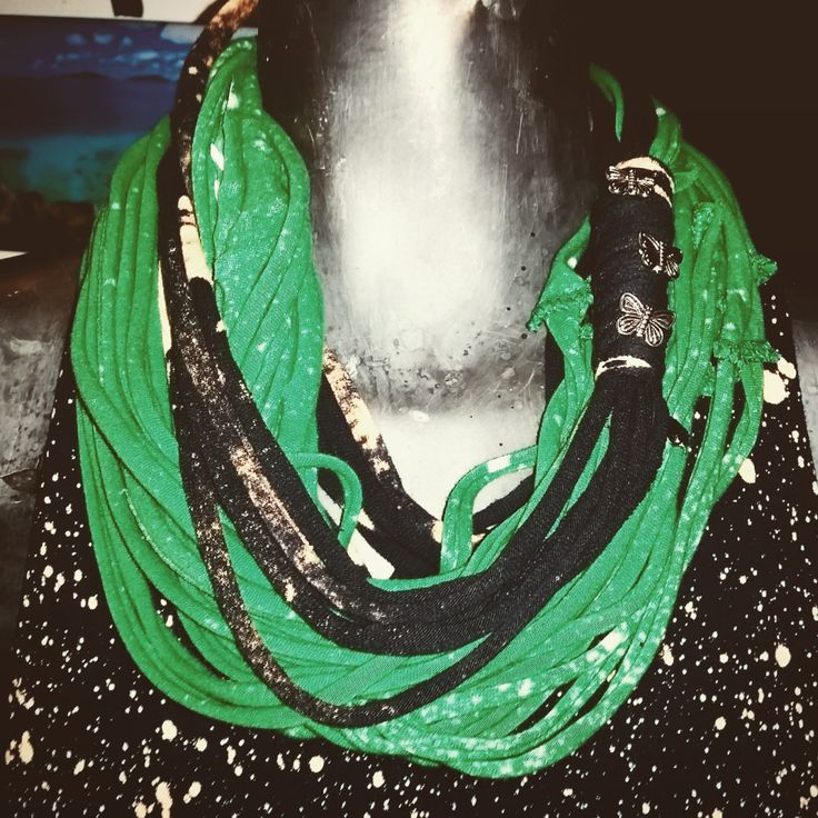 Up-Cycled bleached t-shirt scarfs by RebelStateDesign on Etsy